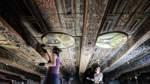 In der Corona-Pause: Im Bremer Rathaus wird die Decke restauriert