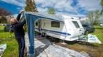 Gähnende Leere auf dem Campingplatz am Unisee