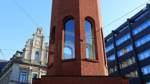 Backsteinturm auf der Bremer Domsheide auf der Kippe