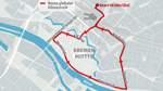 Um 10 Uhr wird die Fridays-for-Future Demo in Bremen starten und die rot markierte Route entlanglaufen.