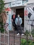 """""""Ohne die Szene kann es uns nicht geben"""": Christian Wille (links) und Mantao Goerigk betreiben das Studio Illegale in der Weberstraße."""
