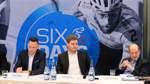 Six Days Pressekonferenz - vl. Erik Weispfennig, Mario Roggow,  Felix Wiegandt und Hans Peter Schneider