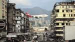 Der Landeanflug auf Hongkong-Airport (links) ist für Pilot und Fotograf gleichermaßen eine Herausforderung. Fehler dürfen dabei nicht passieren.