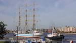 """Russischer Großsegler """"Mir"""" macht in Wilhelmshaven fest"""