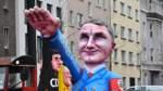 Klare Kante gegen rechts: Jecken feiern Rosenmontag nach Hanau