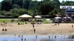Sommer - Hitze - Wetter Feature - Badestellen Weserufer -  mit Umfrage - Cafe Sand -