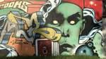 ... und zeigt die unterschiedlichsten Graffiti.