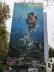 Streetart im Bremer Süden: Wo sich Wellen an Balkonen brechen