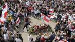 Friedlicher Protest in Belarus gegen Staatschef Lukaschenko