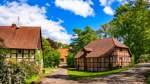 Fachwerkensemble Federlohmühlen mit der Wassermühle, die gleichzeitig als Standesamt dient.