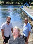 GiB - Gemeinsam in Bremen - Arberger Sommerbad - Seebad Rottkuhle - vl. Sebastian Stapper, Marlene Dörnte und Rainer Bergmann