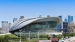 Das muschelförmige Naturkundemuseum steht in direkter Nachbarschaft zum größten Stadtplatz der Welt in Dalian.