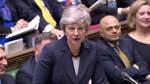 Britische Premierministerin May stellt Rücktritt in Aussicht
