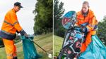 Wie ein Bremer Ehepaar gegen den Müll auf Grünflächen arbeitet