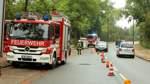 Baum fällt auf Travo-Station in Bremen Huchting