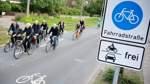 Hier haben Fahrräder in Bremen Vorfahrt