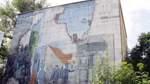 Bunker im Oslebshauser Park, Oslebshausen:    Dieser Bunker stammt aus dem Jahr 1942. Die Wandmalerei gestaltete der Künstler Uwe Oswald.