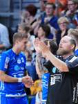 Handball - DHB Pokal - TSV Hannover-Burgdorf vs. ATSV Habenhausen (Blau) - Trainer Matthias Ruckh