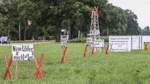 Gegner errichten Protest-Bohrturm