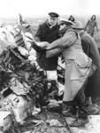 Ein Bild des Grauens an der Unglücksstelle, an der die Convair abstürzte.