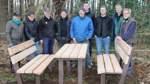 Eine Sitzgruppe an der Streuobstwiese