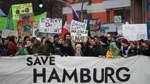 Zehntausende Menschen setzen mit Greta Thunberg Zeichen fürs Klima