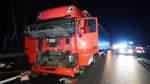 Feuerwehr muss Lkw-Fahrer befreien