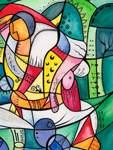 """Mehr Farbe: Katja Bronners Interpretation von Beckmanns """"Apachentanz""""."""