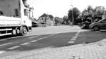 Radler-Symbole auf der Straße für die Sicherheit