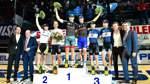 Bilder des Tages SPORT Radsport Marcel Kalz und Iljo Keisse gewinnen Sixdays Bremen Podium vl n r