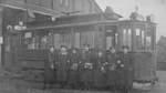 Bis Mitte 1965 pendelte die Straßenbahnlinie 7 zwischen Rablinghausen und Findorff. Ab Oktober 1903 fuhr die Bahn erstmals bis zur Dötlinger Straße. Diese Aufnahme ist in den Zwanzigerjahren entstanden.