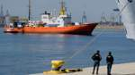 The Aquarius rescue ship arrives to port carrying  106 migrants in Valencia