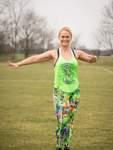 Melanie Klingt ist seit 2013 Fitnesstrainerin.