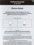 Stimmzettel Volksentscheid Rennbahn