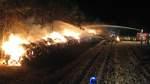 150 Feuerwehrleute bekämpfen Großbrand