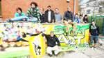 Straßenkunst im Zeichen des Fußballs