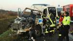 Sechs Polizisten bei Unfall auf A1 verletzt