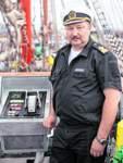 Victor Nikolin (47) ist Kapitän des Ausbildungsschiffs Sedov.
