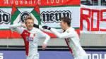 Augsburg stürmt auf Platz drei