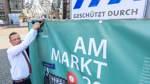 Am Markt: Bauzaun-Bilder zeigen Standort im Wandel