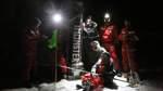 Arktis-Forscher arbeiten in der Polarnacht mit Spezialkameras