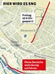 Freitag ab 8 Uhr wird die Parkallee gesperrt. Straßen direkt an der Weser sollten weiträumig umfahren werden.