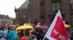 Kita-Protest vor dem Rathaus in Bremen