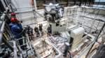 Millimeterarbeit im Maschinenraum