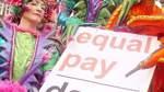Bremerinnen demonstrieren für Lohngleichheit
