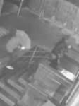 Zwei Männer haben an der Polizeiwache am Steintor Feuer gelegt.