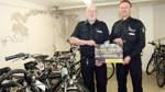 Die Polizei hat Fahrräder im Keller