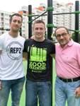 Drei Macher: Dennis Rotano, Daniel Magel und Ralf Schumann (von links).