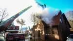 Haus von Flammen zerstört