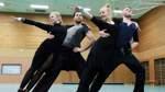 Tanzsport - Tanzen -  Grün-Gold-Club - vl. Tabea mit Tanzpartner Kevin Berger  und Berit Horstmann mit Tanzpartner Lukas Witte